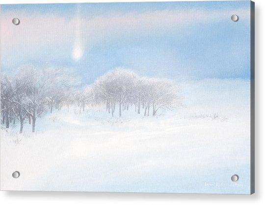 Blizzard Coming Acrylic Print