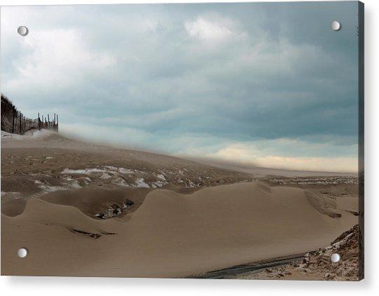 Blowing Sand Acrylic Print