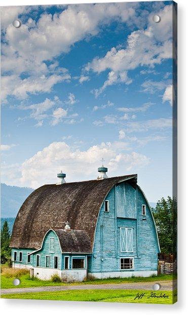 Blue Barn In The Stillaguamish Valley Acrylic Print