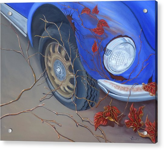 Acrylic Print featuring the painting Blue Fender by Sally Banfill