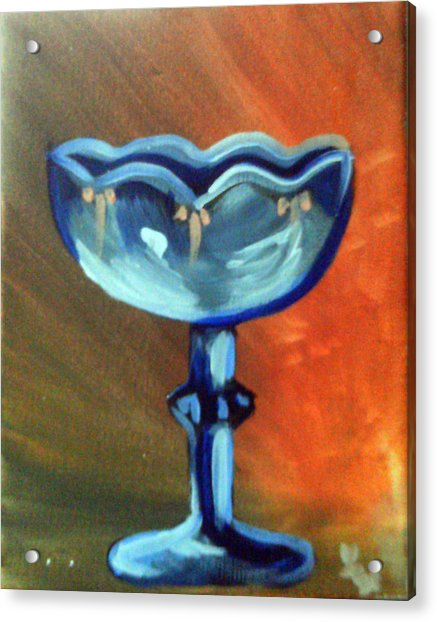 Blue Glass Acrylic Print