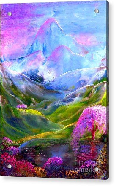 Blue Mountain Pool Acrylic Print