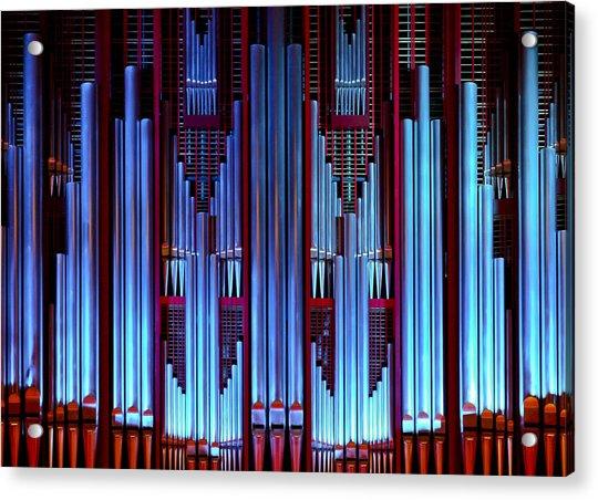 Blue Organ Pipes Acrylic Print