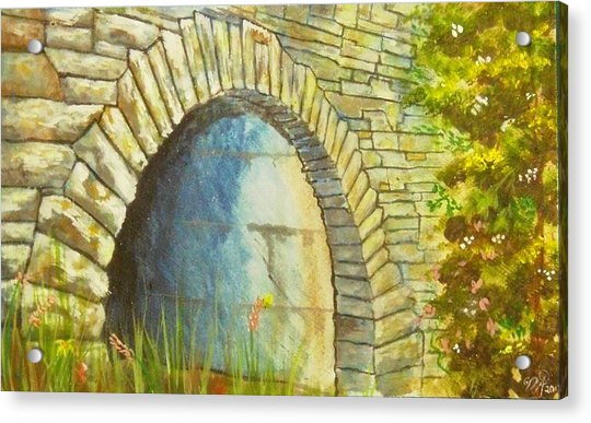 Blue Ridge Tunnel Acrylic Print
