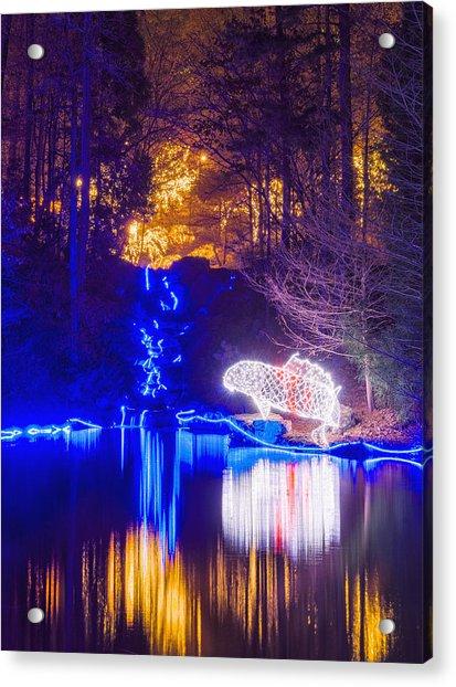 Blue River - Crop Acrylic Print