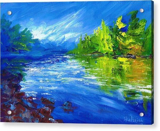 Blue River Acrylic Print