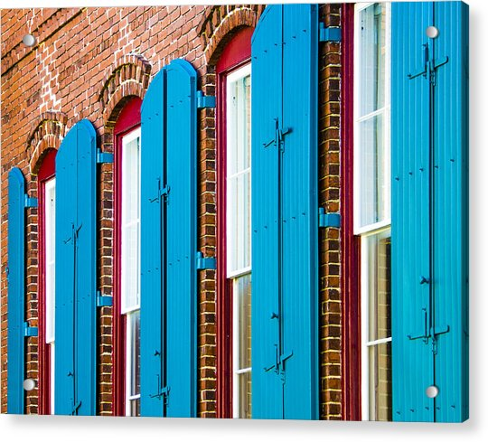 Acrylic Print featuring the photograph Blue Windows by Carolyn Marshall