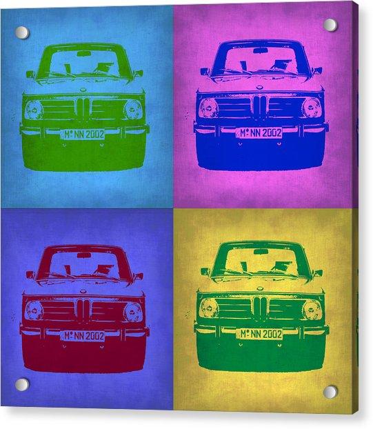 Bmw 2002 Pop Art 3 Acrylic Print