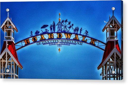 Boardwalk Arch In Ocean City Acrylic Print