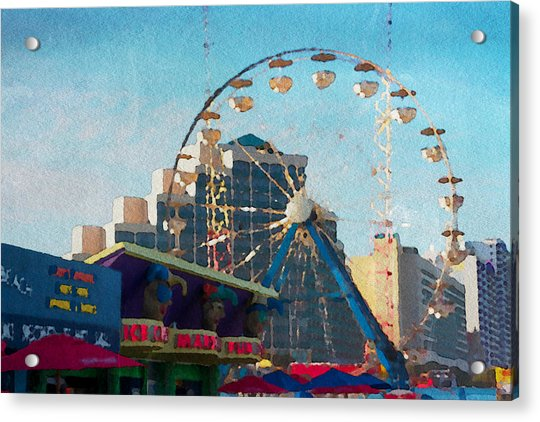 Acrylic Print featuring the photograph Boardwalk Ferris  by Alice Gipson