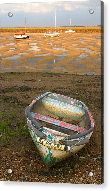 Boat Of Many Colours Acrylic Print