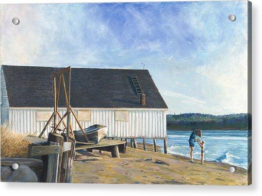 Boathouse At Lisabuela Beach Acrylic Print