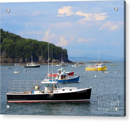 Acrylic Print featuring the photograph Boats In Bar Harbor by Jemmy Archer