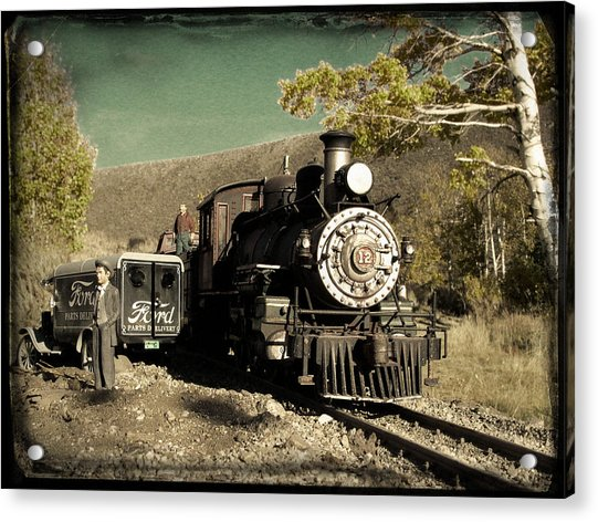 Acrylic Print featuring the photograph Bodie And Benton Road Crossing by David Bailey