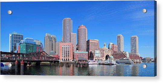 Boston Skyline Over Water Acrylic Print
