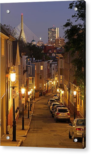 Boston View From Charlestown Acrylic Print