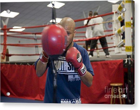 Boxer At Olympic Training Facility Acrylic Print