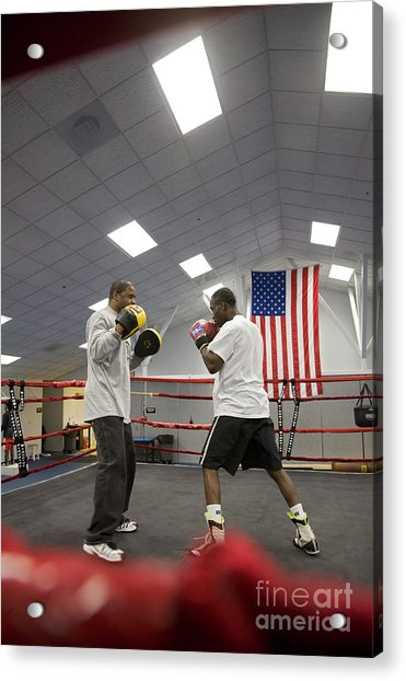 Boxers At Olympic Education Center Acrylic Print