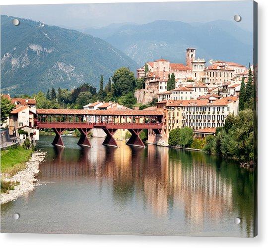Bridge At Bassano Del Grappa Acrylic Print