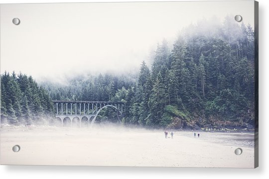 Bridge In The Mist  Acrylic Print