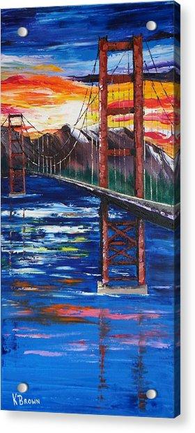 Bridge Over Ocean Acrylic Print