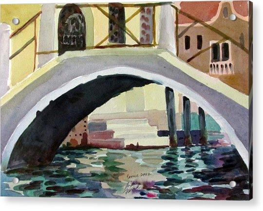 Bridge Reflections Venice Acrylic Print
