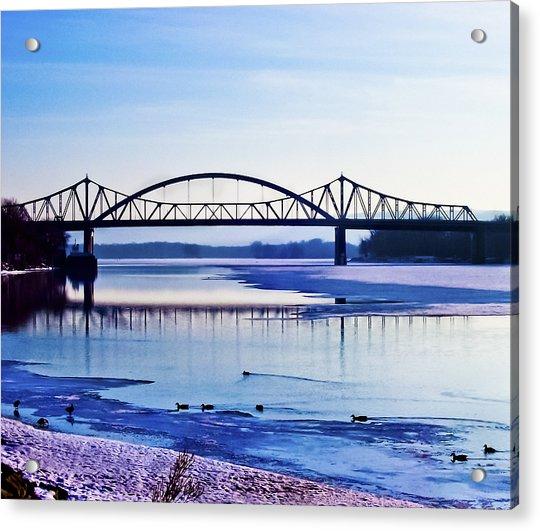 Bridges Over The Mississippi Acrylic Print