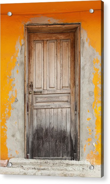 Brightly Colored Door And Wall Acrylic Print