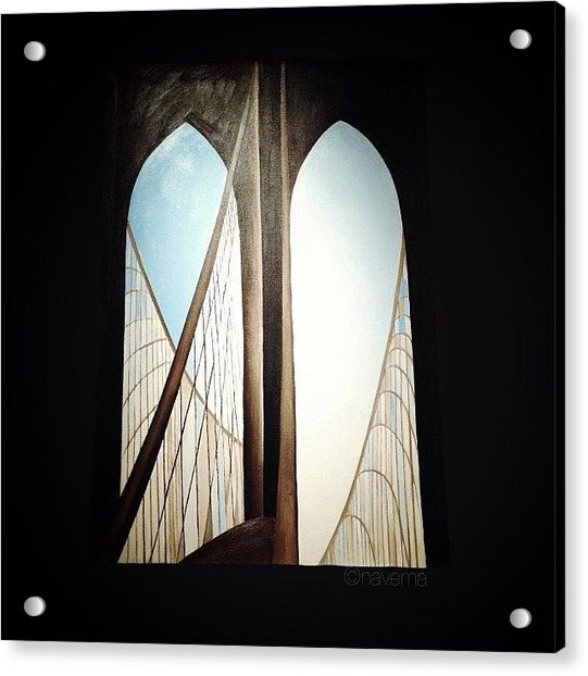 'brooklyn Bridge' By Georgia Acrylic Print by Natasha Marco
