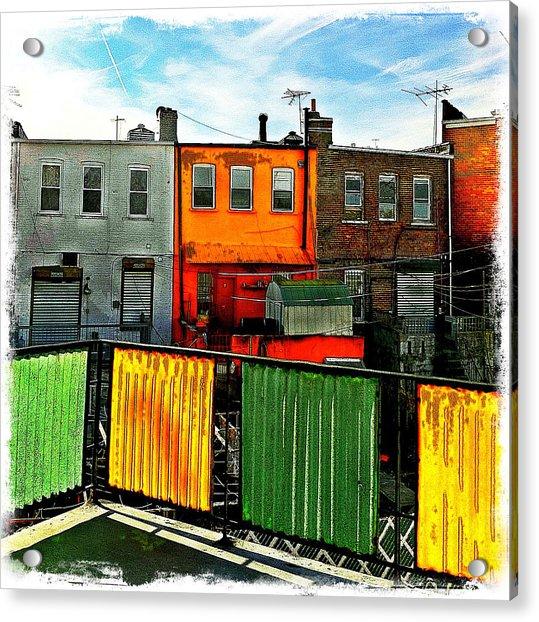 Brooklyn Terrace Acrylic Print