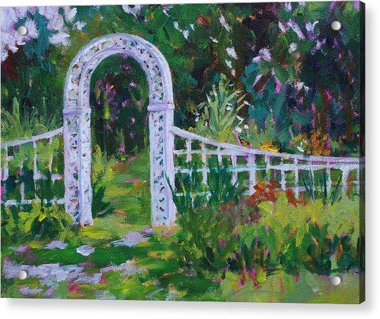 Brucemore Garden Gate Acrylic Print