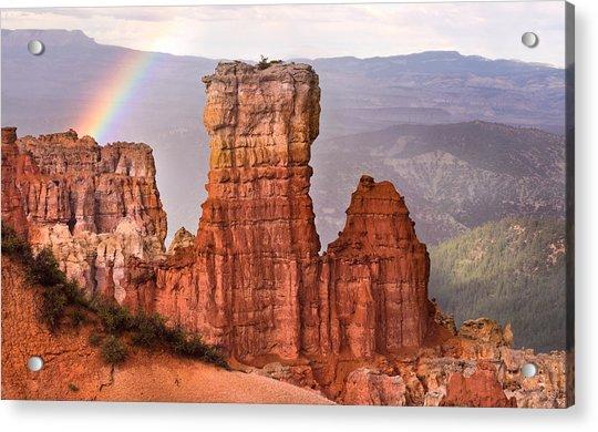 Bryce Canyon In Rain Acrylic Print