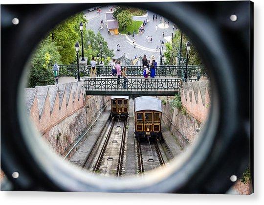 Budapest Castle Hill Funicular Acrylic Print