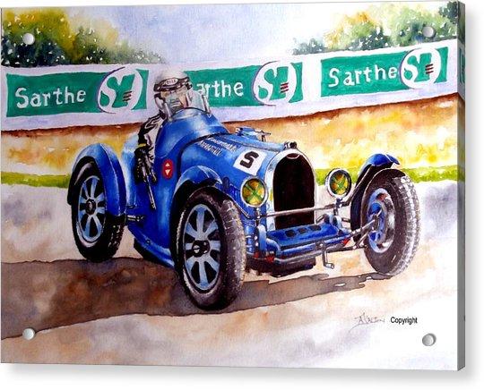 Bugatti 35b Acrylic Print by Anne Dalton