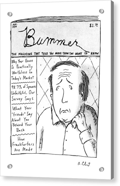 Bummer Magazine Acrylic Print