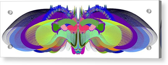 Acrylic Print featuring the digital art Butterfly - Ticker Symbol Csco by Stephen Coenen