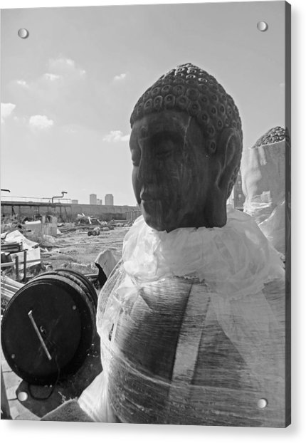 Bywater Buddha In New Orleans Acrylic Print