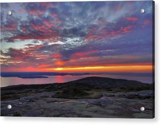 Cadillac Mountain Sunrise 2 Acrylic Print by Stephen  Vecchiotti