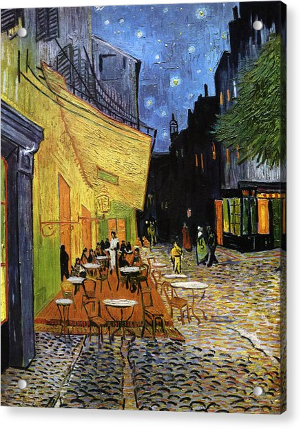 Cafe Terrace At Night Reproduction Art Work Digital Art By