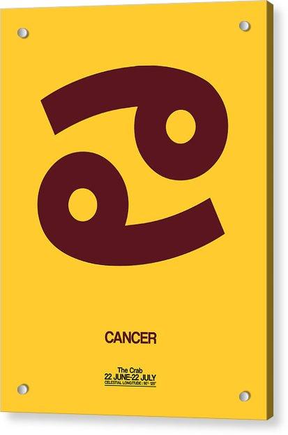 Cancer Zodiac Sign Brown Acrylic Print