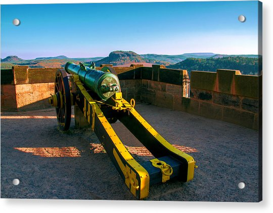 Cannon At The Fortress Koenigstein Acrylic Print