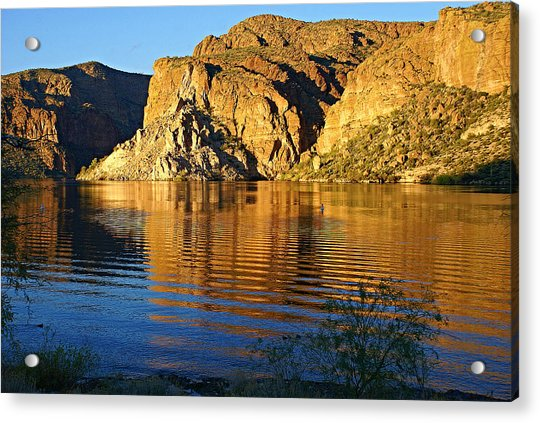 Canyon Lake Reflections Acrylic Print