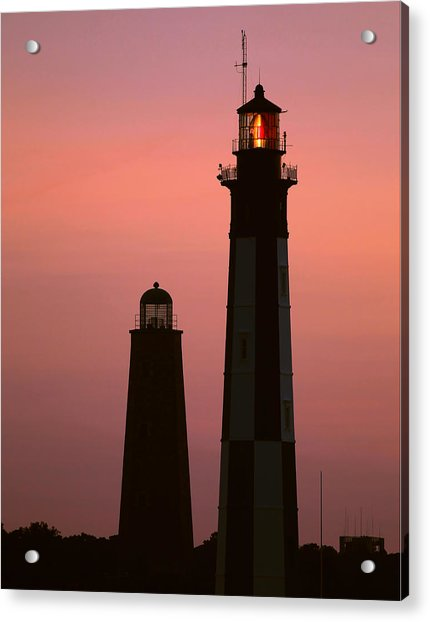 Cape Henry Lighthouses  Acrylic Print