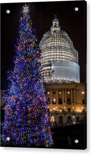 Capitol Christmas Tree 2014 Acrylic Print