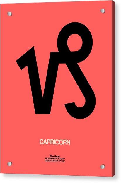 Capricorn Zodiac Sign Black Acrylic Print