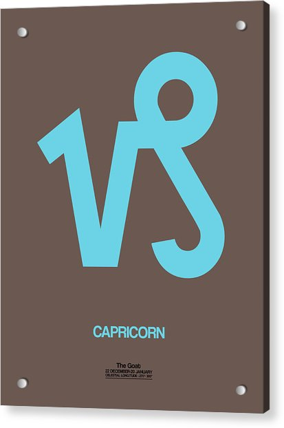 Capricorn Zodiac Sign Blue Acrylic Print
