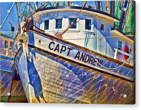 Capt Andrew Shrimper Acrylic Print
