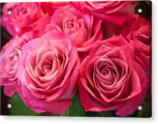 Capturing A Bouquet Acrylic Print