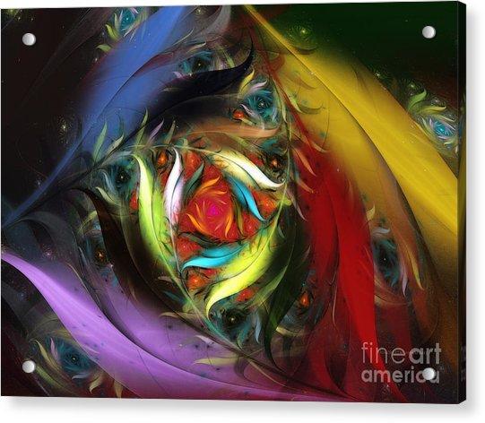 Carribean Nights-abstract Fractal Art Acrylic Print