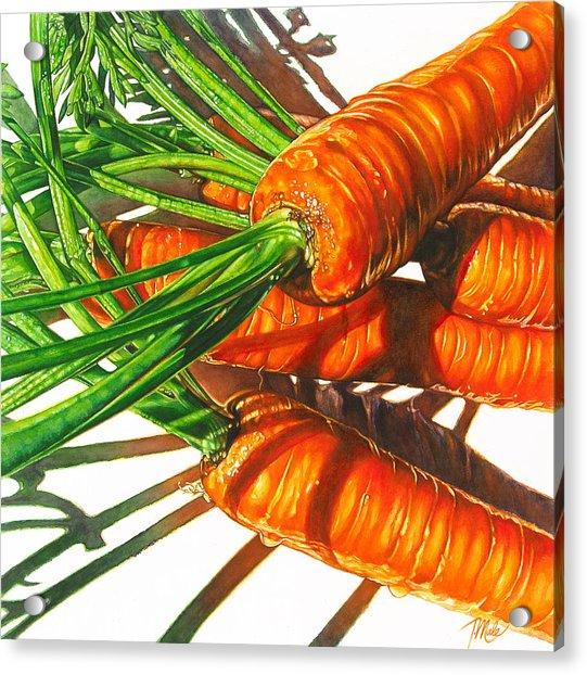 Carrot Top Shadows Acrylic Print
